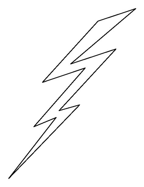 Lightning Bolt Pattern Use The Printable Outline For Crafts Creating Stencils Scrapbooking Lightning Bolt Template
