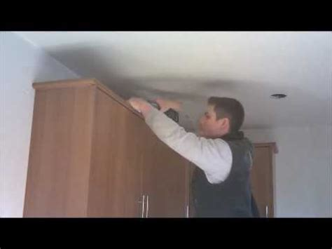 Remove Kitchen Cabinet How To Fit Cornice And Lighting Pelmet For A Kitchen Youtube