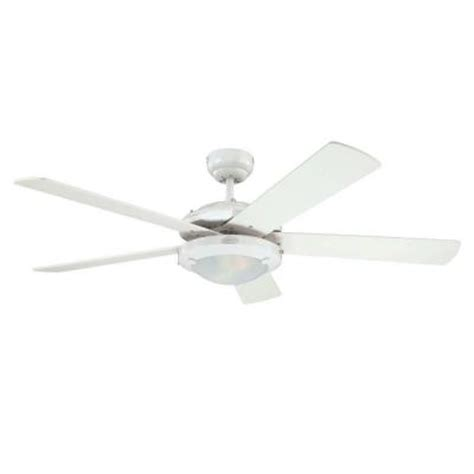 Home Depot White Ceiling Fan by Westinghouse Comet 52 In White Ceiling Fan 7801765 The Home Depot