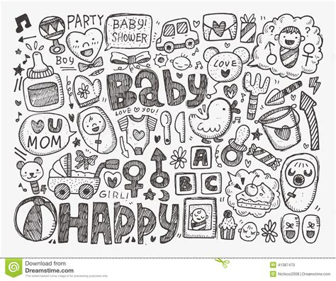 doodle doodle baby doodle baby background stock vector illustration of