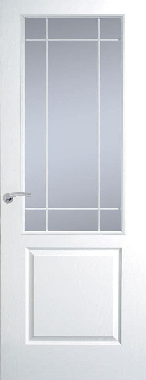 White Half Glazed Interior Doors Premdor Manhattan Half Light Clear Glazed White Leading Textured Doors