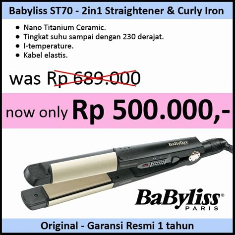 Catok Curly Babyliss jual babyliss st70 2in1 catok curly lagi sale