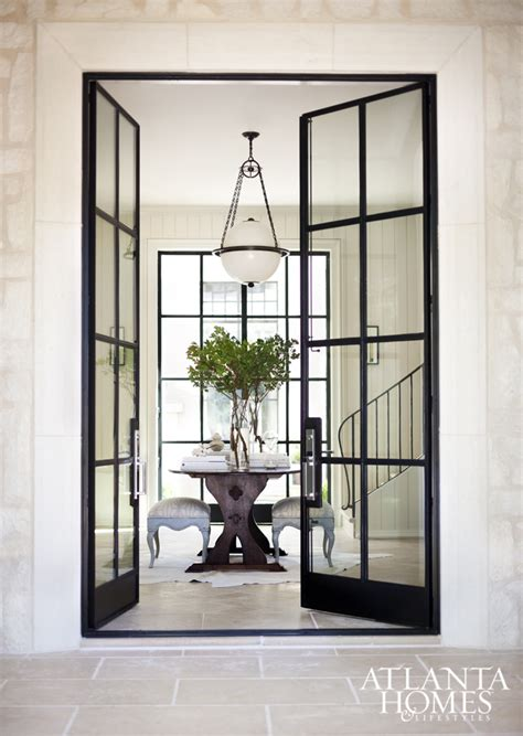 Design Crush Black Windows Glass Doors Decoration Glass And Iron Doors