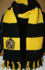 hufflepuff house colors harry potter hufflepuff knit scarf with crest patch by