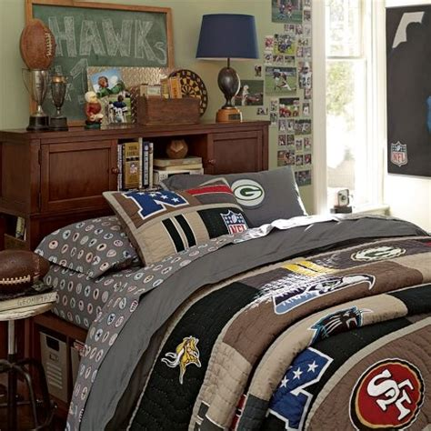 Nfl Bedrooms by Boys Football Theme Nfl Patch Duvet Cover Pillowcase