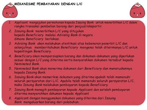 Jasa Letter Of Credit Dan Bank Garansi Produk Dan Jasa Bank