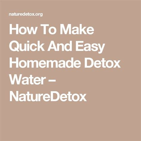 How To Detox A 39 by Best 25 Detox Ideas On Weight Loss