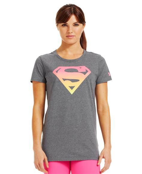 Womens T Shirt Armour Heatgear Semi Fit Ted Sz Xl Original armour s armour alter ego ombre supergirl semi fitted t shirt ebay