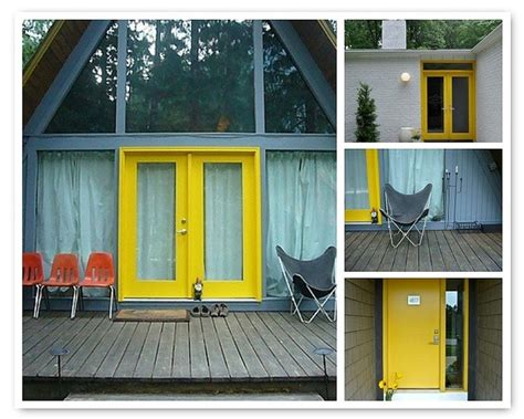 gray house yellow door gray house yellow door home pinterest