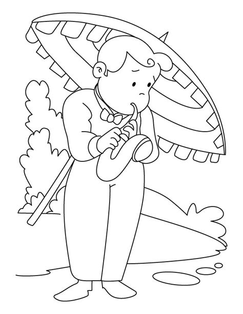 saxophone printable coloring pages