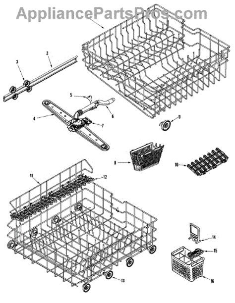 Track Rack Parts by Parts For Maytag Mdb5600awb Track Rack Assembly Parts