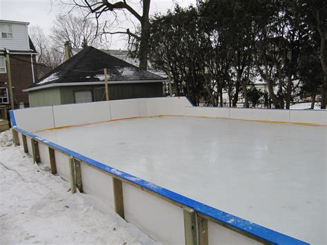 building backyard rink backyard hockey rink boards home interior ekterior ideas