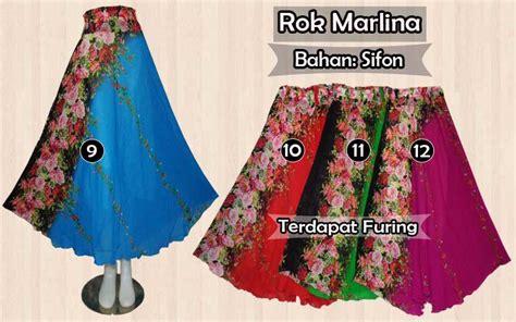 Rok Sifon Berkualitas 2 rok sifon panjang murah terbaru model payung motif dan polos