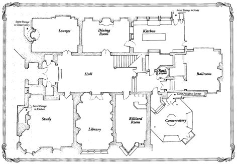 clue movie house floor plan theartofmurder com clue cluedo discussion view