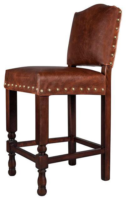 santiago leather stool saddle bar stools