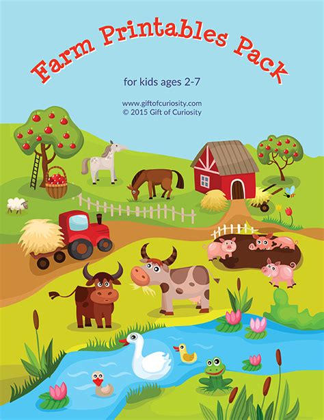 printable animal puzzles for toddlers farm printables pack with more than 70 farm activities for