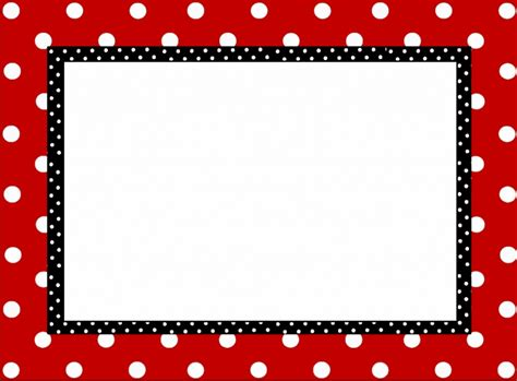 Free Word Template With Border Cards by Free Polka Dot Border Templates Free Microsoft Word