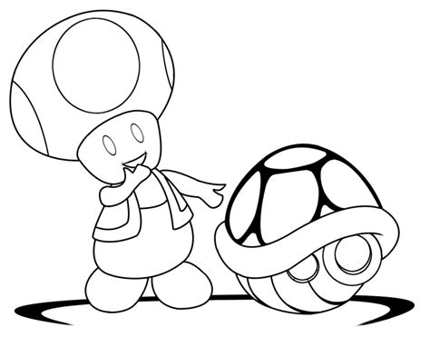 Lineart Toad By Xxfallennightxx On Deviantart Toad Mario Coloring Pages
