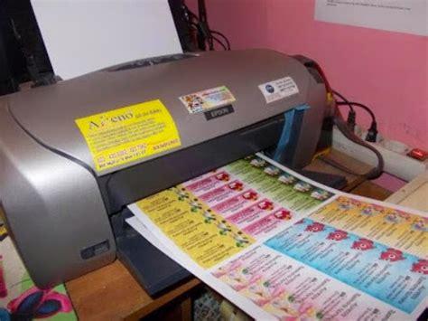 Printer Untuk Cetak Stiker usaha stiker label nama anak the knownledge
