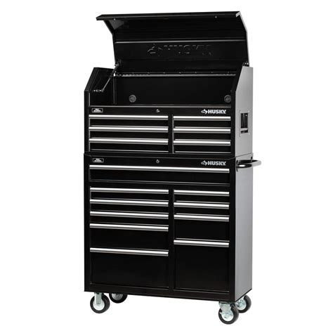 best deals on tool cabinets husky 41 in 16 tool chest and rolling tool cabinet