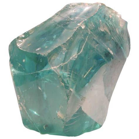 chunk of factory aqua glass cullet at 1stdibs