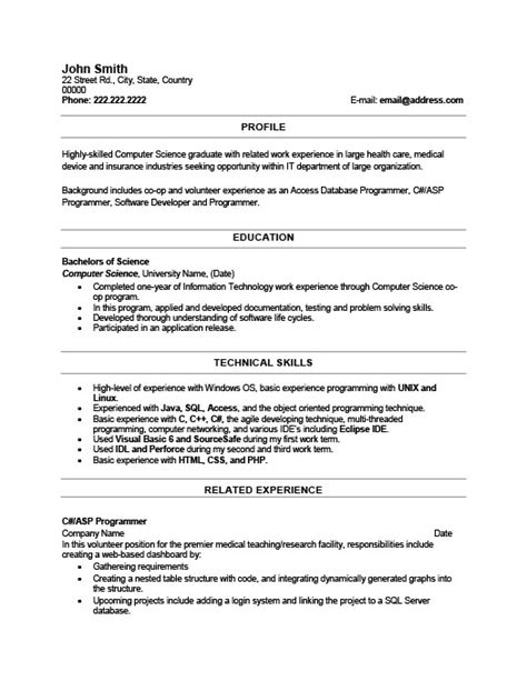 resume templates for recent college graduates recent graduate resume template premium resume sles