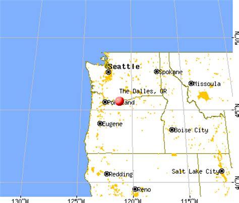 the dalles oregon map the dalles oregon or 97058 profile population maps