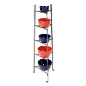 Saucepan Rack Stand Premier 5 Tier Cookware Stand Pot Rack Hammered Steel