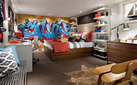 graffiti boys bedroom graffiti accent wall contemporary boy s room candice