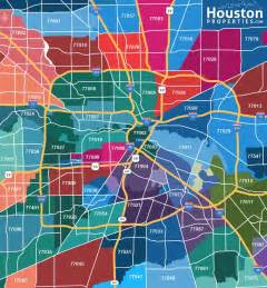 houston map of houston zip code map great maps of houston