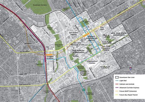 east san jose map transforming downtown san jose spur