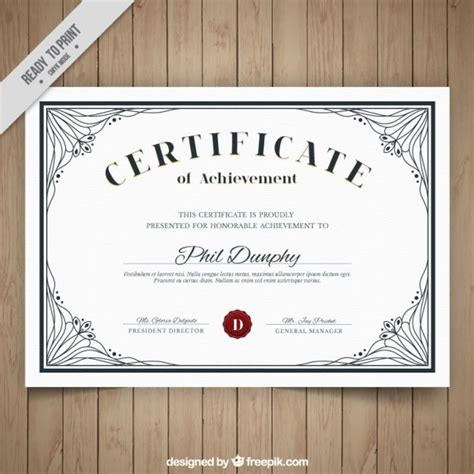 design certificate simple simple certificate with elegant ornaments vector free