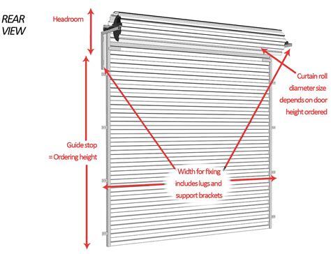 Double Panel Curtains Measuring For Roller Doors Buy Online Garage Roller