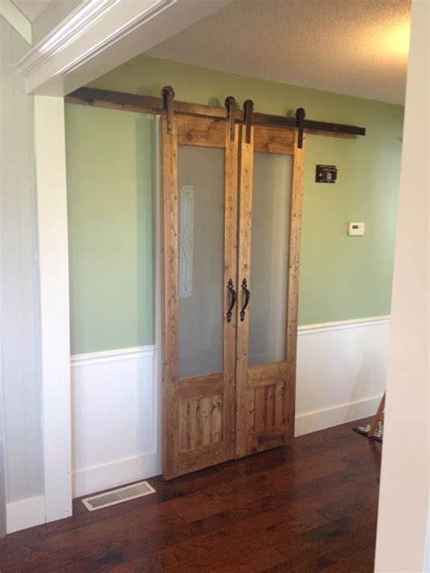 Barn Door With Glass Best 25 Glass Barn Doors Ideas On Interior Glass Barn Doors Separate And Sliding