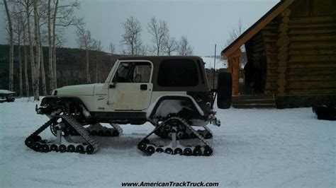 jeep snow tracks vehicle compatibility american track truck autos post