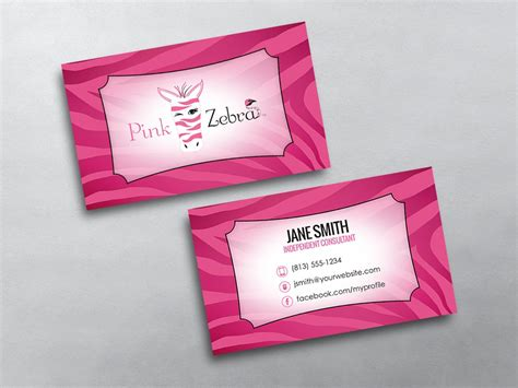 pink business card template pink zebra business cards free shipping