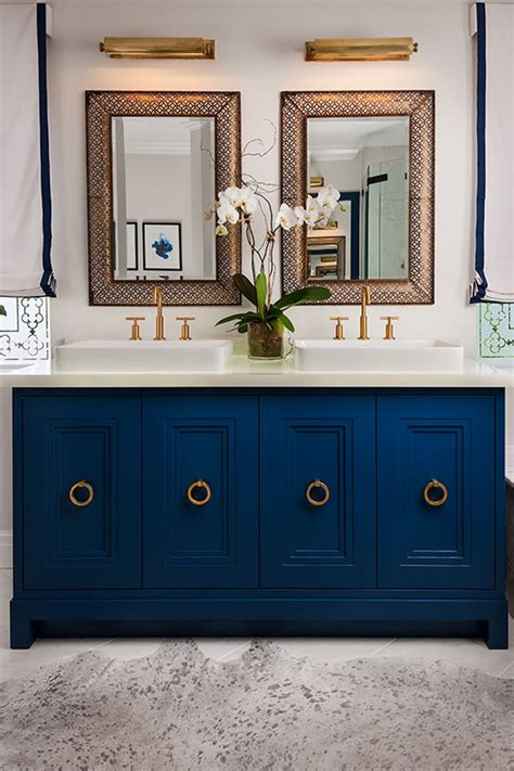 navy blue bathroom vanity best 25 blue vanity ideas on