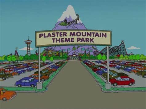 theme park on the simpsons plaster mountain theme park simpsons wiki fandom