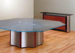 Round Cherry Dining Table Octagon Conference Table Large Round Meeting Table