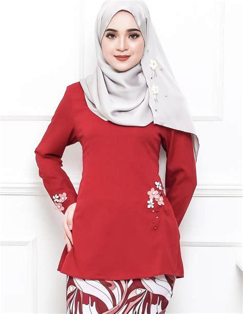 Baju Kurung Modern Pendek songket bunga penuh home design idea