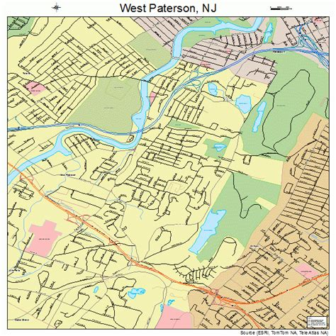 map of paterson new jersey west paterson new jersey map 3479820