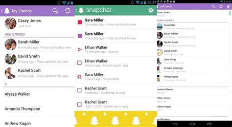 snapchat for android snapchat for android update introduces additional services softpedia