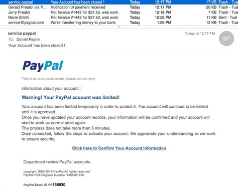 Paypal Credit Letter Yet Another Paypal Phishing Scheme Tualatin Web