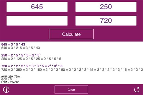 calculator factor prime factor calculator android apps on google play