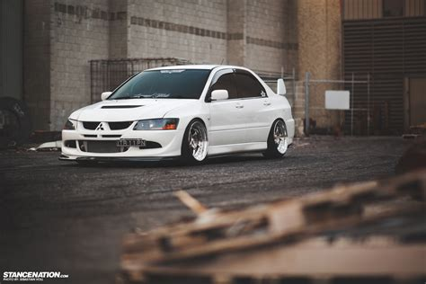 mitsubishi evo stance the total package stephen s mitsubishi evo