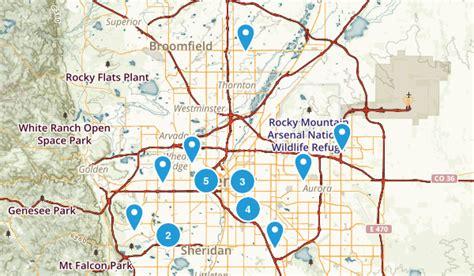 map of colorado cities near denver best trails near denver colorado alltrails