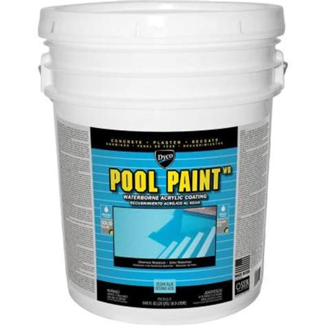 dyco pool paint 5 gal 3151 blue semi gloss acrylic exterior paint dyc3151 5 the home depot