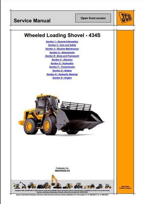 Jcb 434s Wheeled Loader Service Repair Manual A Repair