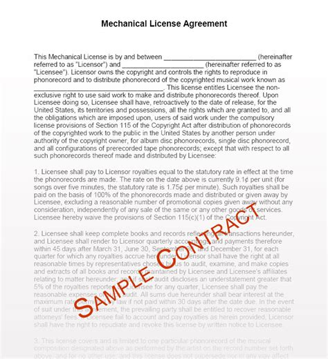 music manager contract templates music management