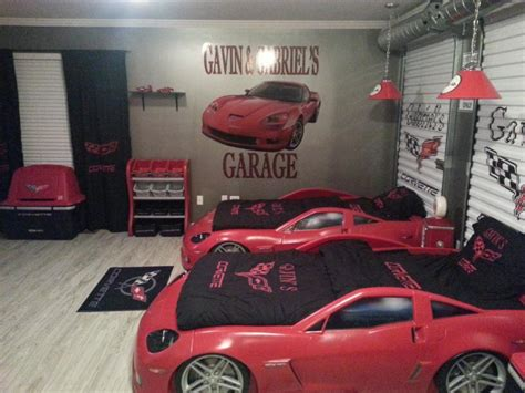 kids car bedroom ideas fabulous race car bedroom decor ideas with red sport car shape bed for twin also